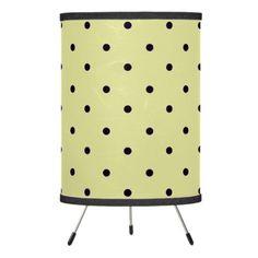 """Traditional Designs"" Polka Dot II / Cream Tripod Lamp"