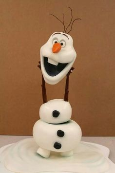 Olaf - Frozen Cake. Mike's Amazing Cakes.