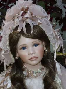 Catherine Elizabeth, wax over porcelain limited edition doll by Mary Benner for Marie Osmond's doll collection.