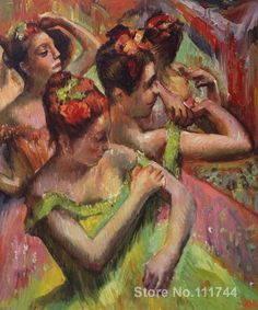 Romantic paintings dancers Ballerinas Adjusting Their Dresses Edgar Degas canvas art High quality hand painted Oil Painting On Canvas, Figure Painting, Painting Frames, Canvas Art, Edgar Degas, Degas Paintings, Ballerina Painting, Popular Paintings, Romantic Paintings