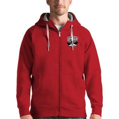 UNLV Rebels Antigua Victory Full-Zip Hoodie - Red