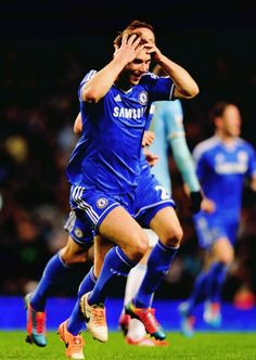 Blue is the only colour!! Ivanovic scored against Man City and Chelsea won 1:0 <3