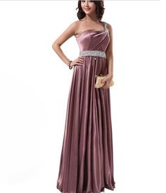 One Shoulder Sequin Waist Evening Dresses Sexy Prom Evening Dresses | Buy Wholesale On Line Direct from China