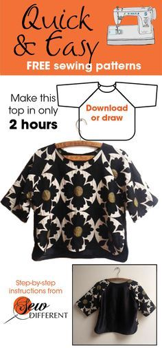 I love this sewing pattern. It's really quick and easy and best of all its a FREE download from www.sewdifferent.co.uk