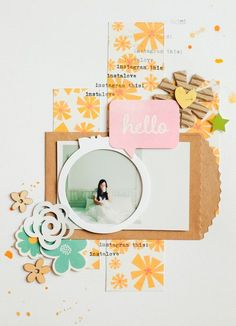 Instagram This scrapbook layout by Evelyn Pratiwi Yusuf featuring Jillibean Soup Sew Sweet Sunshine Soup