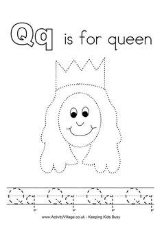 A complete set of original tracing alphabet worksheets for kids - a fun way to learn and practice writing the alphabet! Alphabet Crafts, Alphabet For Kids, Letter A Crafts, Alphabet Activities, Alphabet Tracing, Spelling Activities, Kid Activities, Letter Q Worksheets, Pre K Worksheets