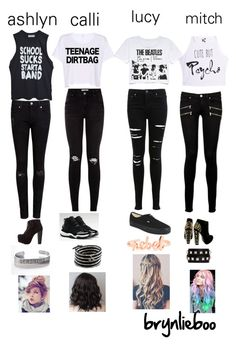 """""""the girl version of 5sos"""" by brynlieboo ❤ liked on Polyvore featuring Miss Selfridge, Paige Denim, Ted Baker, Vans, NIKE, Charlotte Russe, Valentino and Chan Luu"""