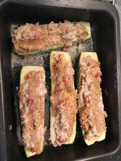 poivre, ciboulette, courgette, tomate, pain de mie, persil, sel, thon