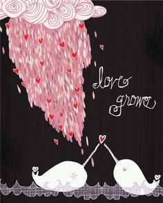 I love narwhals. I love the idea of narwhals in love even more.