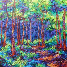 Forest Park - Original Landscape Paintings Sara Larson Paintings & Greeting Cards