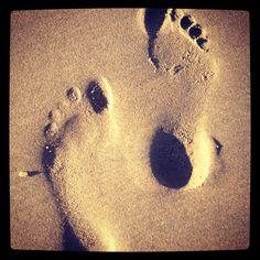 Footsteps at Beach in Bloemendaal