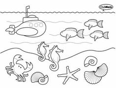 Animales del fondo del mar para colorear e imprimir - Imagui