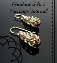 Graduated Box Earrings Chainmaille Tutorial by UnkamenSupplies, $1.00