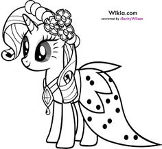 Pony Cartoon My Little Pony Coloring Page 003 Coloring Pages My