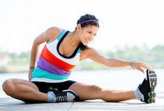 stretching before running