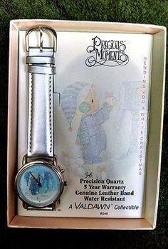 RARE Precious Moments Valdawn Collector Watch 1994 Sending You A White Christmas