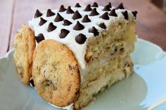 Chocolate chip cookie dough cake - maybe for Rachel's bday next week??? Def trying soon!