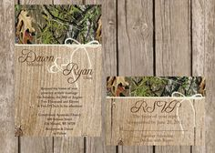 Rustic Camo Wedding Invitation Camo by DawnMarieCreations82, $1.68