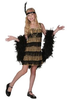 This child flapper costume has fringe style! This flapper costume will have all the kids doing the Charleston on the dance floor this Halloween. A fun girls flapper costume! Flapper Girl Costumes, Flapper Costume, Halloween Costumes For Girls, Cool Costumes, 1920s Flapper Girl, Gangster Costumes, Flapper Party, 1920s Party, Costume Ideas
