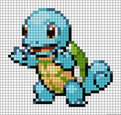 Squirtle Pokemon perler bead pattern                                                                                                                                                      More
