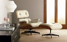 love this Eames Leather Lounge Chair and Ottoman!