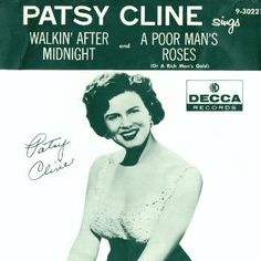 "Released, Feb. 11, 1957, ""Walking After Midnight"" reached #1 Country, and #12 on the Hot 100."