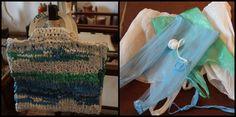 alucinante bolso hecho de bolsas de plástico!!!