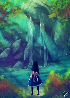 Find images and videos about girl, alice in wonderland and alice madness returns on We Heart It - the app to get lost in what you love. Alice Liddell, Dark Alice In Wonderland, Adventures In Wonderland, Alice Madness Returns, Lewis Carroll, Dark Fantasy, Fantasy Art, Chibi, Fanart