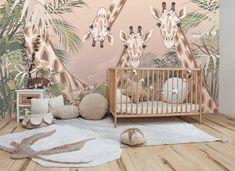 Baby Nursery Decor, Baby Bedroom, Baby Boy Rooms, Baby Decor, Room Decor Bedroom, Kids Bedroom, Room Baby, Jungle Baby Room, Safari Nursery