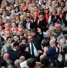 ☼ An emotional Rafa Benitez during a Hillsborough Memorial service at Anfield #LFC