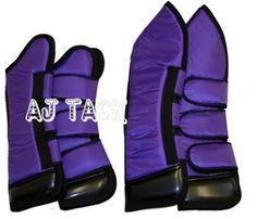Horse Shipping Boots Set of Four Large Fleece Lining Foam Padded Purple Color