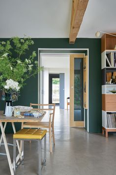 7 Olive Green Paint Ideas That Will Make Any Room Feel More Sophisticated Home Decorating Ideas Olive green paint, as its name suggests, is a neutral shade of green. This color can be used on whatever surface it's meant to go. Green Dining Room, Dining Room Colors, Living Room Green, Green Rooms, Bedroom Green, Green Paint Colors, Wall Paint Colors, Bedroom Paint Colors, Paint Colors For Living Room