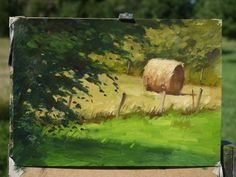 Farm Paintings, Impressionist Paintings, Basic Painting, Painting & Drawing, Abstract Landscape, Landscape Paintings, Art Hoe Aesthetic, Gouache, Oil Pastel Art