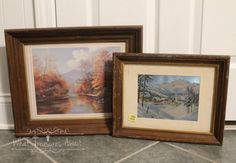 I have a hard time passing up nice wooden frames when I see them. With a little paint, these would be great to use as actual frames, but I had another plan. I'v…