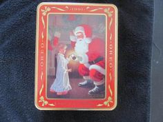 OREO COOKIE TINS - EMPTY - 1991 'WAITING FOR SANTA' #OREO