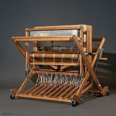 Schacht Baby Wolf weaving loom for creating hand woven cloth. Weave, weaving, handwoven, loom, art, craft, maple, wood, wooden