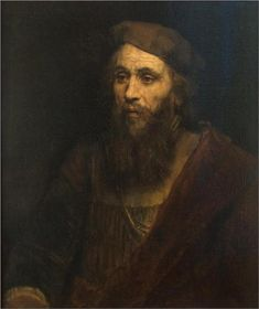 Portrait of a Bearded Man. Retrato de un hombre con barba. Rembrandt. 1661. Oil on canvas. 71 X 61 cm. Hermitage Museum. St Petersburg.