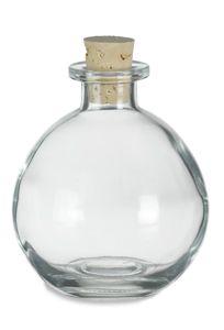 $2.12 - Cork Round Glass Bottle 8.5oz (250ml) w/ Cork - CKRD250