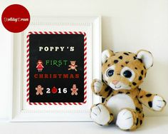 PRINTABLE Chalkboard Baby's My First Christmas by HolidayDream