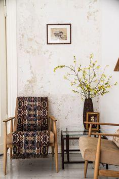 vintage reading-corner at Jadwiga Pokryszka's Appartment