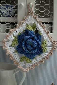 Flower granny square crochet - forthehome
