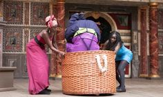 Less set is more ... The Merry Wives of Windsor performed in Swahili at Shakespeare's Globe.