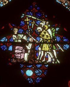 Martydom of St. Thomas Becket, Christ Church Cathedral, Oxford, England-stainedglasssplendor.blogspot.com