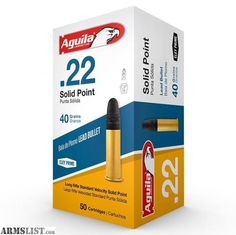 For Sale:  Aguila 22LR Ammunition SuperExtra 1B222332 Standard Velocity 40 Grain Lead Round Nose Per Case 5000 count