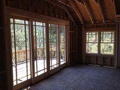 New 8 foot sliding glass door to the deck