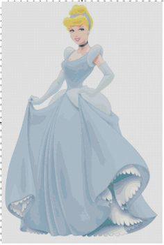 Cinderella cross stitch pattern PDF by Bluegiantstitch on Etsy, £2.30