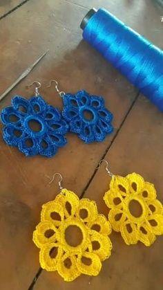 Crochet Jewelry Patterns, Crochet Earrings Pattern, Crochet Hair Accessories, Crochet Mandala Pattern, Crochet Flower Patterns, Crochet Doll Pattern, Crochet Designs, Crochet Flowers, Diy Earrings Tutorial