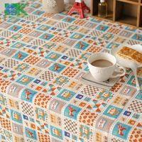 2016 Summer new Korean high-end cartoon design cotton and linen tables home drape table cloth , freee shipping