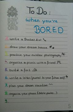 things to do when youre bored