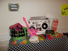 class reunion ideas | photo props | Class Reunion / 80's Theme Party Ideas